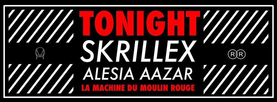 Affiche officielle de la soirée surprise de Skrillex